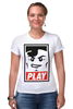 "Футболка Стрэйч ""Lego Play (Obey)"" - gamer, lego, игрок, лего, играй"