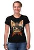 """Футболка Стрэйч (Женская) """"Кот в очках"""" - кот, очки, cat"""