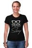 """Футболка Стрэйч (Женская) """"Geek Sexy"""" - очки, geek, секси, sexy, гик"""