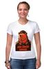 """Футболка Стрэйч (Женская) """"Comrade"""" - bear, медведь, погоны, товарищ"""