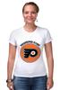 """Футболка Стрэйч (Женская) """"Philadelphia Flyers"""" - спорт, хоккей, nhl, нхл, филадельфия флайерз"""
