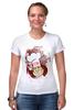 """Футболка Стрэйч (Женская) """"Obey milkman"""" - арт, авторские майки, obey, молочник"""