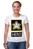 """Футболка Стрэйч (Женская) """"Звезда из Марио"""" - star, hero, марио, mario bros"""
