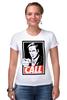"Футболка Стрэйч (Женская) ""Better call Saul"" - obey, call, better call saul, лучше звоните солу, сол гудман"