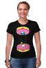 """Футболка Стрэйч """"Simpsons x Portal"""" - симпсоны, гомер симпсон, пончик, the simpsons, donut"""