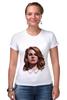 """Футболка Стрэйч (Женская) """"Lana del Rey"""" - стиль, рисунок, портрет, lana, лана дель рей"""