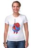 "Футболка Стрэйч ""Fat Spiderman"" - spider-man, человек-паук, обжорство, спайдермен"