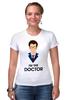 """Футболка Стрэйч """"Doctor Who """" - doctor who, tardis, доктор кто, теннант, тардис"""