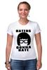 """Футболка Стрэйч """"Haters Gonna Hate (Tina Belcher)"""" - haters gonna hate, закусочная боба, bob's burgers, ненавистники пускай ненавидят"""