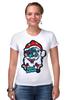 "Футболка Стрэйч (Женская) ""Merry Deadmas "" - zombie, christmas, santa, merry"