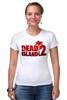 """Футболка Стрэйч (Женская) """"Dead Island 2"""" - zombie, зомби, кровь, ужасы, dead island 2"""