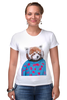 """Футболка Стрэйч (Женская) """"Красная панда"""" - арт, red, девушке, panda, animal, красная панда, dressed"""
