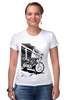 "Футболка Стрэйч ""Мотоциклы"" - white, black, motorcycle, bike, harley"