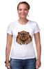 """Футболка Стрэйч (Женская) """"Медведь"""" - bear, медведь, animal"""