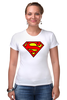 """Футболка Стрэйч (Женская) """"superman"""" - супермен, superman, dc"""