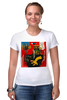"""Футболка Стрэйч (Женская) """"Basquiat"""" - граффити, робот, basquiat, баския, жан-мишель баския"""