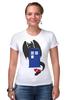 """Футболка Стрэйч (Женская) """"Как приручить Тардис"""" - doctor who, доктор кто"""