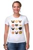 """Футболка Стрэйч """"Собачки и печеньки"""" - пончик, бульдог, печенье, эклер"""