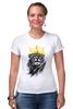 """Футболка Стрэйч """"Король Лев"""" - корона, lion, животные, лев, царь зверей"""
