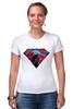 """Футболка Стрэйч (Женская) """"superman"""" - superman, супергерои"""