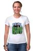 """Футболка Стрэйч """"Популярная панк-группа """"Green Day"""""""" - музыка, группа, green, панк, green day, панк-рок, зеленый день, green day общая"""