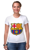 "Футболка Стрэйч (Женская) ""Барселона"" - футбол, клуб, barcelona, барселона, испания, football club"