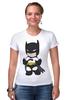 "Футболка Стрэйч (Женская) ""Batman"" - batman, бэтмен"