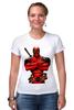 "Футболка Стрэйч (Женская) ""Deadpool "" - deadpool, дедпул"