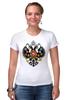 """Футболка Стрэйч """"Российская Империя"""" - россия, герб, империя, российская империя, двухглавый орёл"""