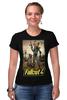 "Футболка Стрэйч (Женская) ""Fallout 4"" - games, fallout, bethesda, fallout 4"