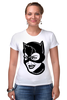"""Футболка Стрэйч (Женская) """"Женщина-кошка (Catwoman)"""" - batman, бэтмен, женщина-кошка, catwoman, dc comics"""