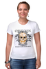 """Футболка Стрэйч (Женская) """"Oblivion"""" - череп, ангел, дизайн, oblivion, забвение"""