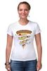 "Футболка Стрэйч (Женская) ""Пицца Навсегда (Pizza Forever)"" - пицца, pizza"