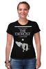 """Футболка Стрэйч (Женская) """"The Exorcist"""" - кино, дьявол, ужасы, the exorcist, изгоняющий дьявола"""