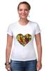 """Футболка Стрэйч (Женская) """"Fruit Heart"""" - heart, фрукты, fruit, вегетарианство, vegan"""