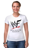"Футболка Стрэйч (Женская) ""WrestleMania"" - wwe, wrestling, wwf, рестлинг, wrestlemania"