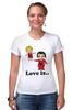 "Футболка Стрэйч ""love is..."" - heart, i love, love is"