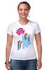 """Футболка Стрэйч (Женская) """"my little pony girl"""" - my little pony, пони, для детей, детское"""