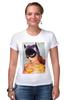 """Футболка Стрэйч (Женская) """"EL BATGIRL"""" - batwoman, бэтмэн, бэтгерл"""
