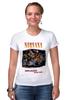 "Футболка Стрэйч (Женская) ""Nirvana Unplagged album t-shirt"" - гранж, nirvana, kurt cobain, курт кобейн, нирвана"