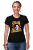 "Футболка Стрэйч (Женская) ""Sheldon Cooper (Шелдон Купер)"" - the big bang theory, теория большого взрыва, шелдон купер, super villian"