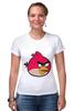 "Футболка Стрэйч (Женская) ""Angry Birbs"" - angry birds"