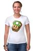 "Футболка Стрэйч ""Одна Жизнь (Марио)"" - mario, mushroom, марио, грибочек, сэндвич"