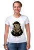 "Футболка Стрэйч (Женская) ""made in USSR"" - bear, ссср, медведь, россия, russia, патриотические футболки, арт медведь, russian bear, made in ussr"