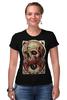 "Футболка Стрэйч ""Art Horror"" - skull, череп, blood, evil, зло"