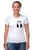 """Футболка Стрэйч """"Панда в Кармане"""" - панда, panda, карман"""