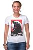 """Футболка Стрэйч """"Godzilla gray"""" - фильмы, динозавры, годзилла, godzilla, kinoart"""