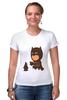"""Футболка Стрэйч (Женская) """"Бэтмен и Пингвин"""" - batman, пингвин, бэтмен"""