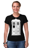 "Футболка Стрэйч ""Tardis (Тардис)"" - сериал, doctor who, tardis, доктор кто, тардис, машина времени, телефонная будка, time machine, phone box"
