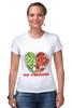 """Футболка Стрэйч (Женская) """"GO VEGGIE!"""" - вегетарианец, сыроед, овощи, veggies"""